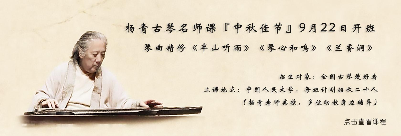 杨青古琴名师班【潇湘水云】